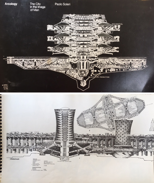 Arcology: The City in the Image of Man. Urban Studies, Paolo Soleri.