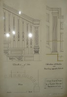 "Architectural Drawing (""Old Staircase in my Lee House, Marblehead, Mass""); featuring ""Elevation of Side,"" ""Elevation of Pilaster amd Paneling opposite Newell."""