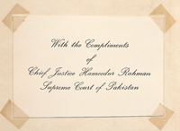 The Constitution of the Islamic Republic of Pakistan (Presentation copy!); [Passed by the National Assembly of Pakistan on the 10th April, 1973 ...]. Association Copy, National Assembly of Pakistan.