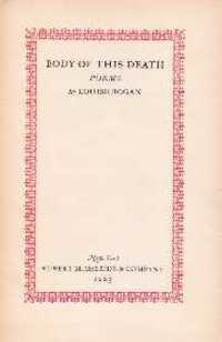 Body of This Death. Poetry, Louise Bogan.