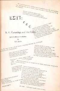 EETI: e e c E.E. Cummings and the Critics. Literary Criticism, S. V. Baum,