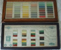 Two Framed Paint Chip Charts.