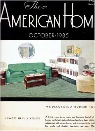 The American Home, October 1935. Architecture, Jean Austin.