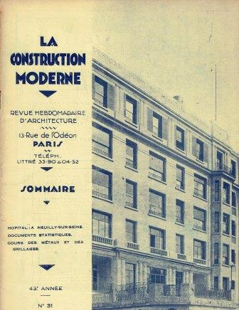 Lot of La Construction Moderne magazines. Architectural History, M. Paul Le Chevallier.
