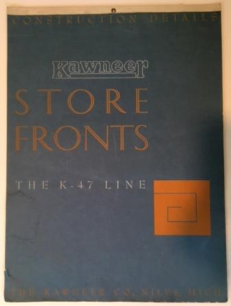 Kawneer Store Fronts Full Size Construction Details K-47 Line. Architectural History, Kawneer.
