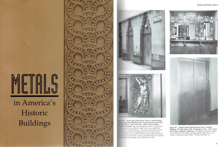 Metals in America's Historic Buildings; Uses and Preservation Treatments. Metal, Margot Gayle, David W. Look, John G. Waite.