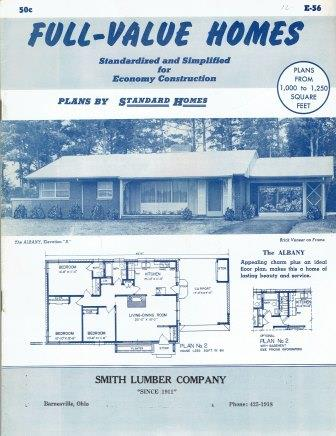 Full Value Homes, E-56; Standardized and Simplified for Economy Construction. Pattern Book, Standard Homes Plan Service.