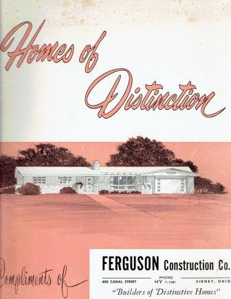 Homes of Distinction. Pattern Book, Ordan Publishing Company Builders Plan Service Division.