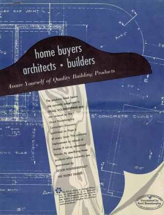 Index of Building Products and Service List Advertised in Good Housekeeping; Effective Date December 15, 1951 through January 15, 1951 [sic]. Building Materials, Good Housekeeping.