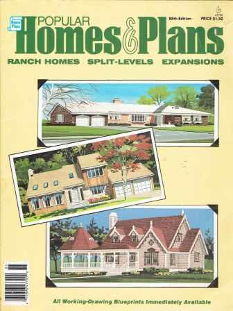 Popular Homes and Plans; Ranch Homes Split-Levels Expansions. Pattern Book, House Plan Headquarters.