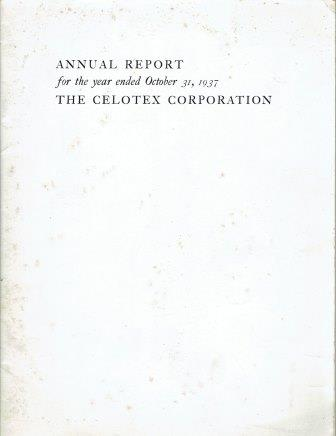 Annual Report for the Celotex Corporation, 1937. Building Trades, Celotex Building Products.