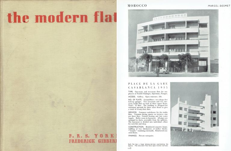 The Modern Flat. Architectural History, F. R. S. Yorke, Frederick Gibberd.
