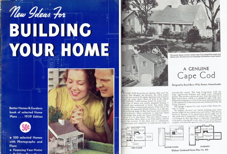 New Ideas for Building Your Home. Pattern Book, Better Homes, Gardens.