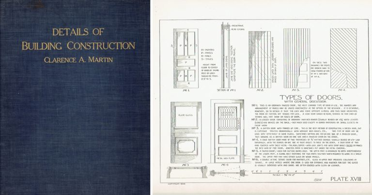 Details of Building Construction. Building Trades, Clarence A. Martin.