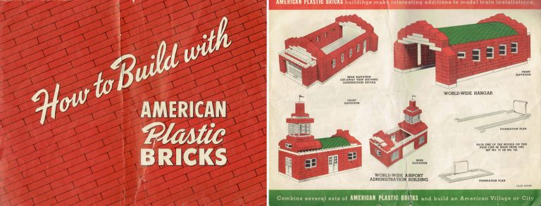 How to Build with American Plastic Bricks. Children, Inc Elgo Plastics.