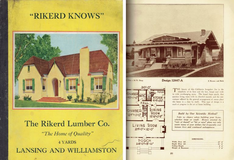 The Home of Quality. Pattern Book, Rikerd Lumber Company.