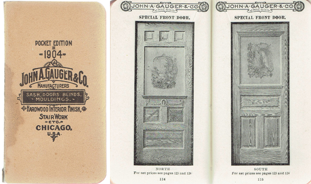 1904 Vest Pocket Catalogue of Doors, Sash, and Everything in Millwork. Millwork, John A. Gauger, Co.