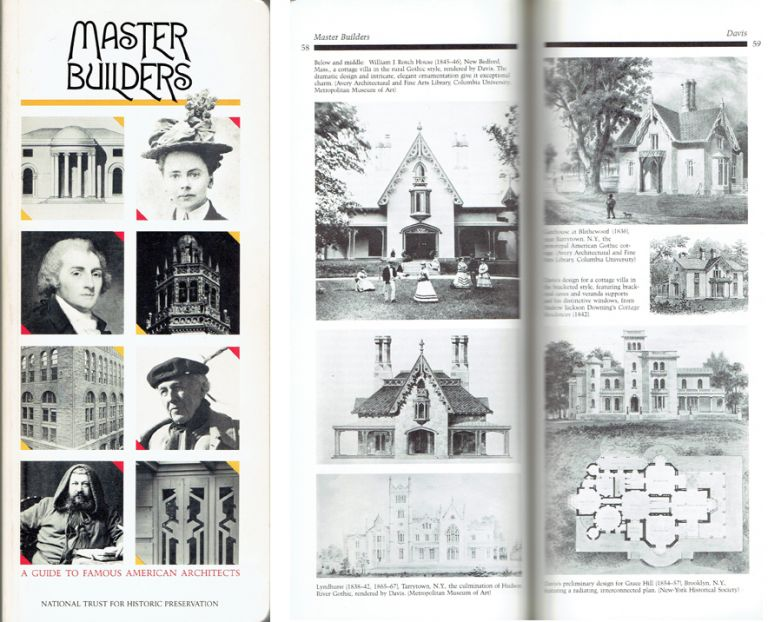 Master Builders: A Guide to Famous American Architects. American History, Roger K. Lewis, Diane Maddex National Trust for Historic Preservation.