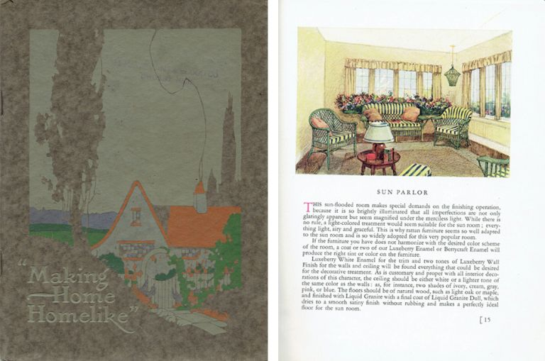 Making Home Homelike; A handbook on ways and means of decorating and beautifying the home. Paint, Eleanor Colby.