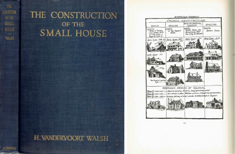 The Construction of the Small House; A Simple and Useful Source of Information on the Methods of Building Small American Homes, for Anyone Planning to Build. American, H. Vandervoort Walsh.