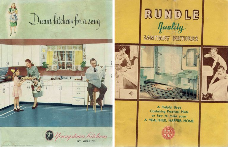 Four Midwestern 1930s Catalogs of Kitchen Fixtures and Furniture. Kitchens.