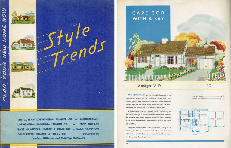 Style Trends ~ Plan Your New Home Now. Pattern Book, Inc National Plan Service.