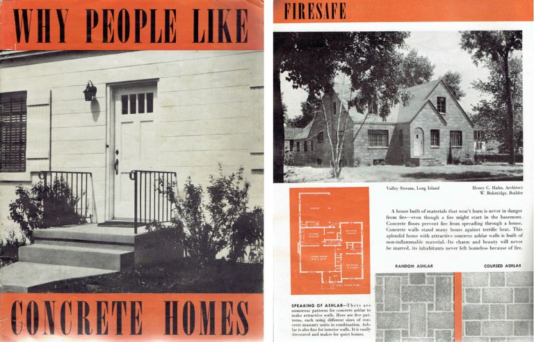 Why People Like Concrete Homes. Pattern Book, Portland Cement Association.