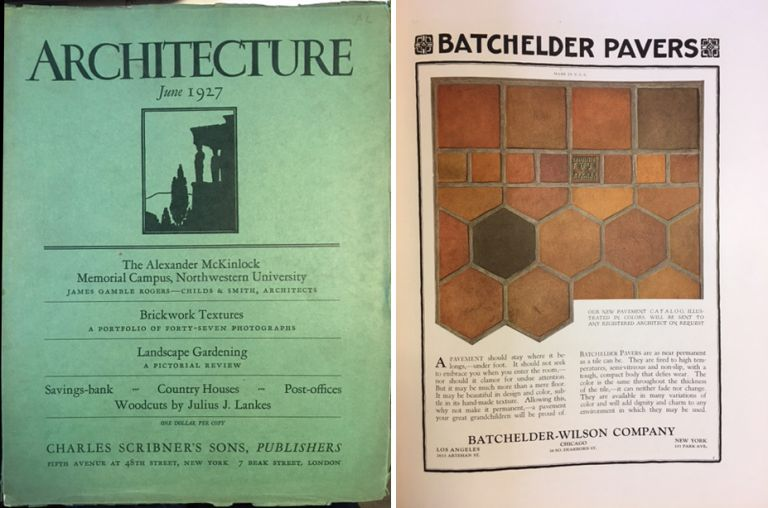 Architecture Magazine, June 1927; Volume LV Number 6. Architecture, Charles Scribner's Sons.