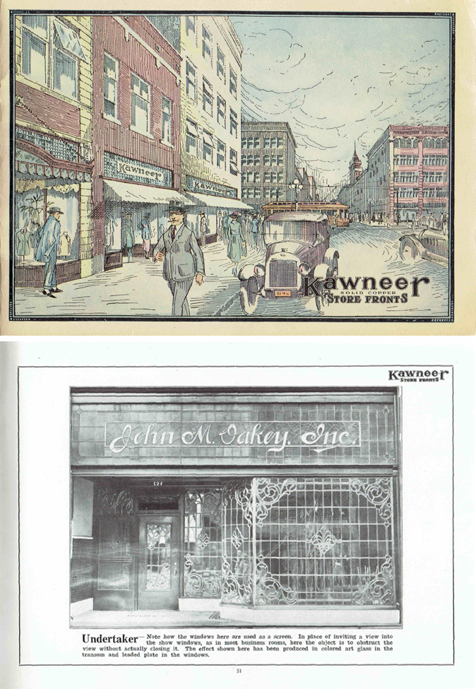 Kawneer Solid Copper Store Fronts; A Collection of Successful Designs. Pattern Book, Kawneer Company.