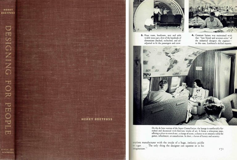Designing for People - signed by the author. Architectural Monograph, Henry Dreyfuss.