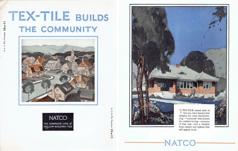 Tex-Tile Builds the Community; AIA File Number 10-a-11. Tiles, Pottery, NATCO.