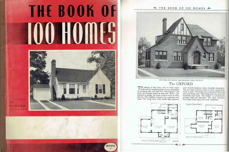 The Book of 100 Homes: Containing the Designs and Floor Plans of One Hundred Homes - Bungalows, Cottages, and Two Story Homes - Book I. Pattern Book, Brown-Blodgett Company.