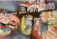 Planning your Bathrooms and Powder Room. Plumbing, Briggs, trade catalog.