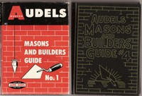Masons and Builders Guides (4 volumes, complete in pristine dust jackets). Masonry, Audels.
