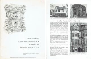 Evolution of Masonry Construction in American Architectural Styles. Architectural History,...