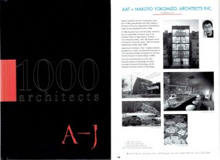 1000 Architects (New condition, two vulume set!
