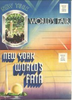 2 New York World's Fair 1939 Official Postcard Sets. Americana, New York World's Fair