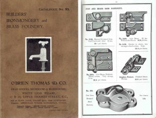 Catalogue No. 53: Builders' Ironmongery and Brass Foundry. Hardware, O'Brien Thomas, Co