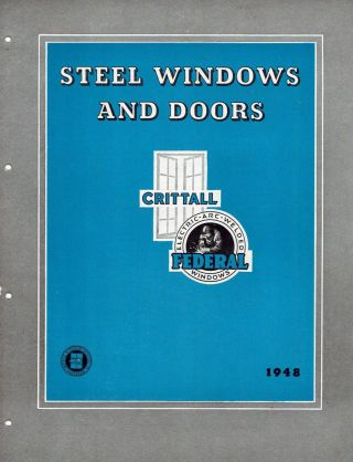 Crittal Trade Pamphlet: Steel Windows and Doors: Federal Electric-Arc-Welded Industrial and...