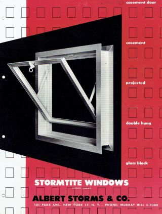 4 Commercial/Industrial Window Trade Pamphlets: Gate City, NuEra Window, Stormtite, Thorn....