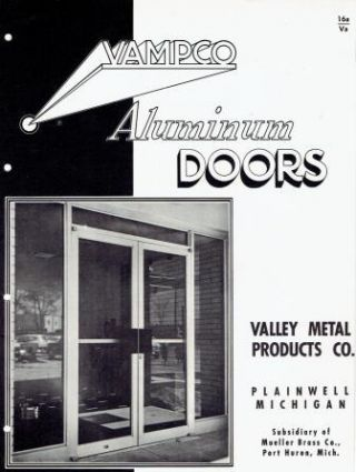 3 Aluminum door trade pamphlets - ca 1960. Metal, VAMPCO, Himco, H&J
