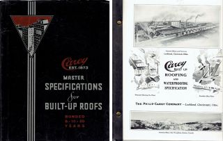 Master Specifications for Built-Up Roofs (Specification No. 1 through No. 12). Roofing, The...