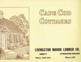 Cape Cod Cottages. Pattern Book, National Plan Service