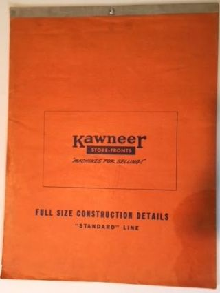 Kawneer Store Fronts Full Size Construction Details Standard Line. Architectural History, Kawneer