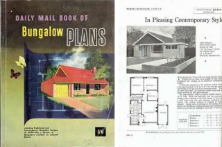 Daily Mail Book of Bungalow Plans; including Traditional and Contemporary Bungalow Designs of 1959 with a Review of Bungalows available on selected Estates. Pattern Book, Daily Mail.