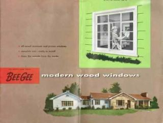 BEE GEE Modern Wood Windows; A.I.A. File No. 16-L. Windows, Brown-Graves Company