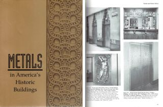 Metals in America's Historic Buildings; Uses and Preservation Treatments. Metal, Margot Gayle,...