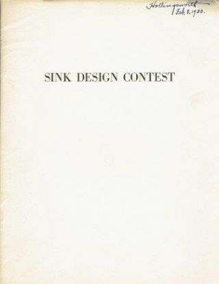 Sink Design Contest; Results of a competition for a design for a kitchen sink to be manufactured...