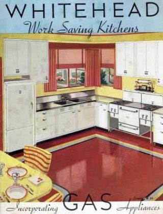 Whitehead Work Saving Kitchens Incorporating Gas Appliances. Kitchens, Whitehead Metal Products...