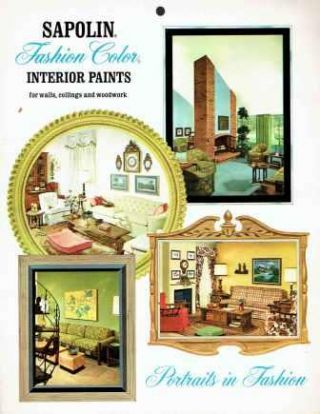 Sapolin Latex House Paint and Sapolin Fashion Color Interior Paints. Paint, Sapolin Paints Inc